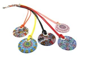 Millefiori pendants