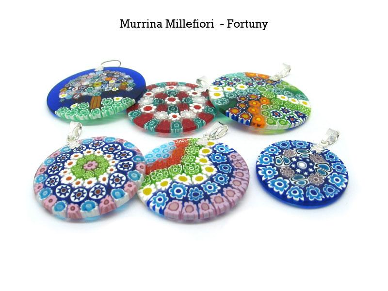 Murrina millefiori pendant mod fortuny murano glass murrine millefiori murano glass aloadofball Images
