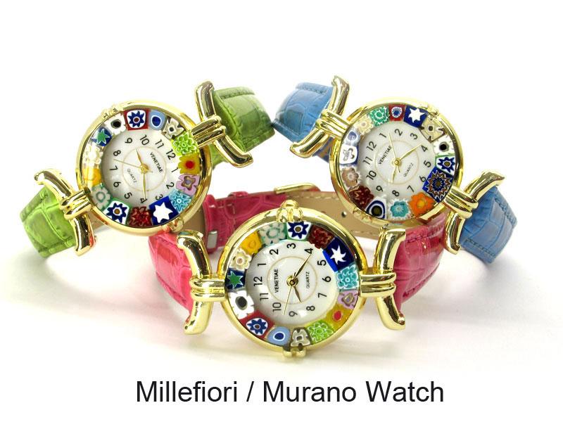 Часы настольные из муранского стекла