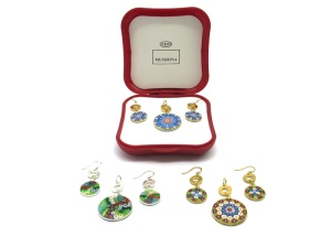 Murrina Glass Set-Parure Tiffany